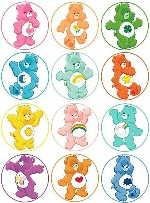 £1.99 • Buy 24 Care Bears Fairy Cake Toppers Edible Party Decorations