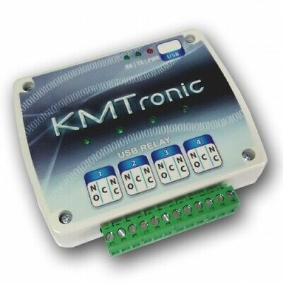 £30 • Buy KMTronic USB Relay Controller - Four Channel With Clips For DIN Mount Rail