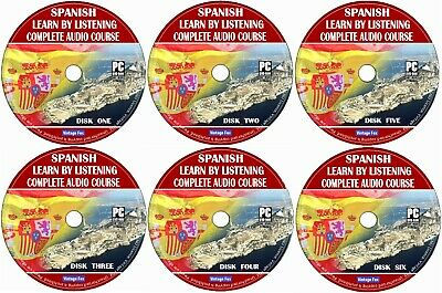 £4.99 • Buy Spanish Language Course Learn By Listening From Beginners To Advance 6x Audio CD