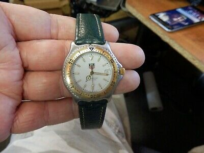 Tag Heuer Professional WI1150 Stainless Steel/ 18K Gold Men's Wristwatch • 131.50$