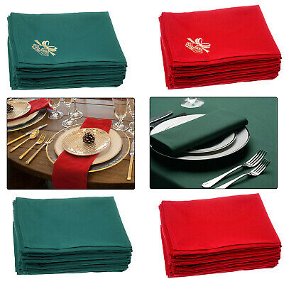 Napkins Table Linen Dinner Cloth Spun Polyester Hotel Wedding Parties 50 X 50cm  • 11.05£