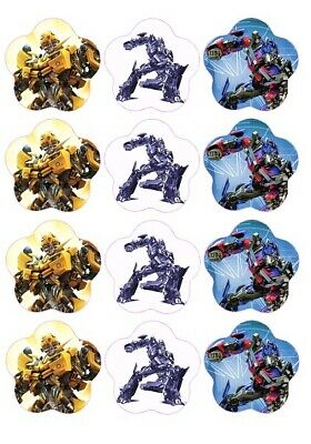 24 Transformers Fairy Cake Toppers Edible Party Decorations • 1.99£