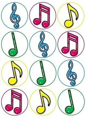 £1.99 • Buy 24 Music Notes Fairy Cake Toppers Edible Party Decorations