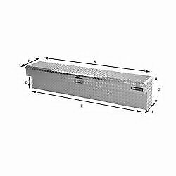 $273.12 • Buy Lund Truck Bed Side Rail Tool Box 5760