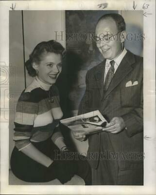 $ CDN26.46 • Buy 1950 Press Photo Peggy Castle And Herman Kohlmeyer, New Orleans Symphony Leader