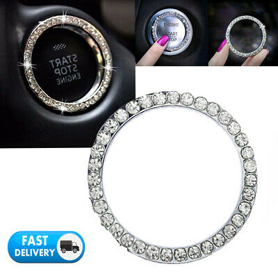 $0.99 • Buy 1x Car Diamond Ring Bling Start Stop Button Auto Switch Colors Decor Accessories