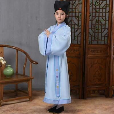 £16.29 • Buy Child Hanfu Chinese Ancient Student Acting Clothes Girl Boy Cosplay Uniform
