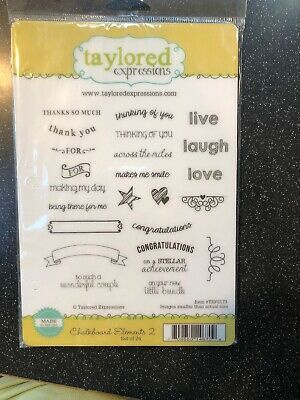Taylored Expressions ~~ Chalkboard Elements 2 Stamp Set ~~NIP~Free Shipping! • 9$