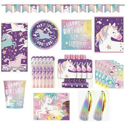 AU2.50 • Buy Unicorn Fantasy Birthday Party Supplies Balloons Decorations Girls Tableware Cup