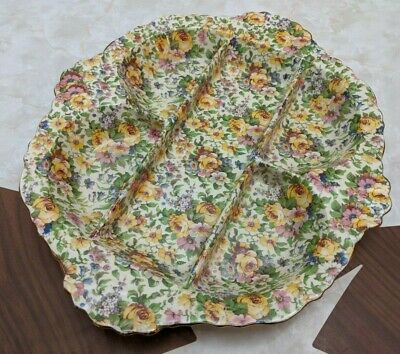 $ CDN100 • Buy Royal Winton Grimwades Bedale Chintz 5 Parts Relish Serving Dish Bowl England
