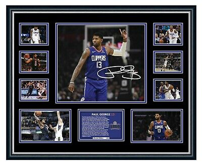 AU99.99 • Buy Paul George La Clippers 2019/20 Signed Photo Limited Edition Framed Memorabilia