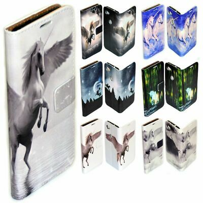 AU14.98 • Buy For Sony Xperia Series - Unicorn Fairy Tale Print Wallet Mobile Phone Case Cover