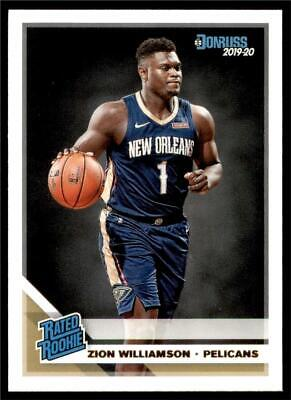 2019-20 Donruss Rated Rookie Base #201 Zion Williamson RC - New Orleans Pelicans • 18.49$