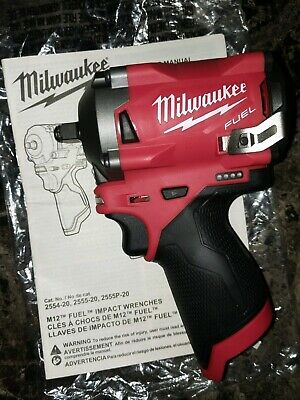 Milwaukee 2554-20 M12 FUEL Compact 3/8  Drive Impact Wrench Tool - BRAND NEW  • 149.99$
