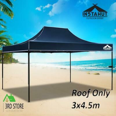 AU46.75 • Buy Instahut Gazebo 3x4.5 Pop Up Marquee Replacement Roof Outdoor Wedding Tent Navy