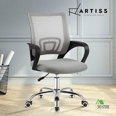 AU64.35 • Buy Artiss Office Chair Gaming Chair Computer Mesh Chairs Executive Mid Back Grey