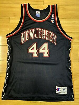 AU349 • Buy Autographed Keith Van Horn New Jersey Nets Official Champion NBA Signed Size 44