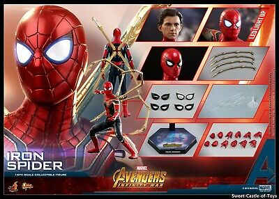 $299.95 • Buy 1/6 Hot Toys Marvel Avengers Infinity War Iron Spider Spider-Man Figure MMS482