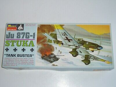$14.99 • Buy Monogram 1:48 Junkers JU-87G-1 Stuka Tank Buster Model Airplane Kit! - NOS - USA