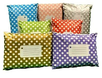 £5.40 • Buy MIXED Polka Dot Printed Coloured Mailing Bags Post Mixture Of Colours & 3 Size