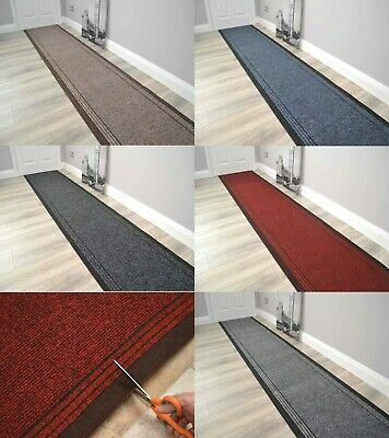 Very Long Hallway Rug Heavy Duty Hall Runner Non Slip Rubber Back Extra Length  • 12£