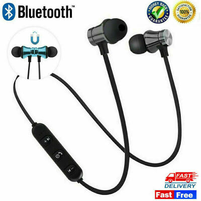 Wireless Bluetooth Earphones Sport Headphones Headset Mic Iphone Samsung Earbuds • 3.79£