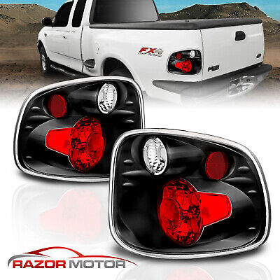 $50.66 • Buy 1997-2000 For Ford F-150 FlareSide Altezza Style Black Rear Brake Tail Lights