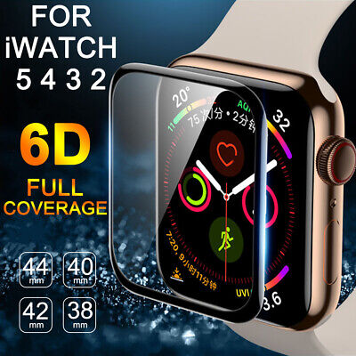 $ CDN1.59 • Buy For Apple Watch Series 5 4 3 2 1 6D Curved Soft Glass Screen Protector 40 44mm