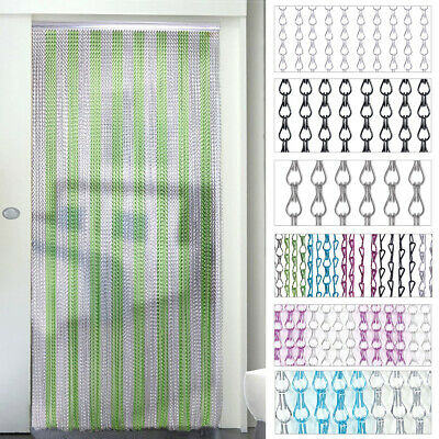 Metal Chain Insect Fly Prevented Door Curtain Screen Aluminium Pest Control Wire • 39.95£