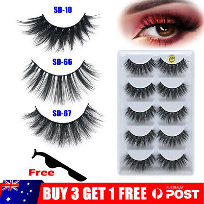 AU3.25 • Buy 3D Mink Natural Thick Long False Fake Eyelashes Eye Lashes Makeup Extension AU
