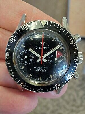 $ CDN1313.28 • Buy Croton Chronomaster Aviator Sea Diver Vintage Chronograph