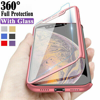 $2.94 • Buy For Xiaomi Redmi 8T 7A 6A Note 8 7 6 5 Pro 360° Full Cover Case + Tempered Glass