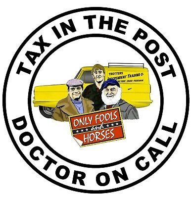 £4.75 • Buy Only Fools & Horses (tax In Post) Novelty Car / Window Sticker +1 Free / Gifts