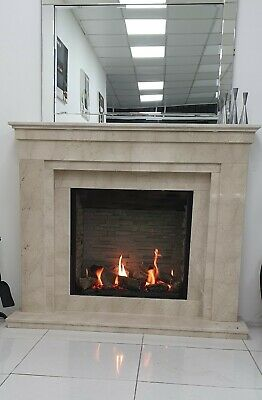 Pacific Plus 60  In Natural Cream Marble  With Gazco  Riva 2 750 HL Gas Fire  • 2,995£