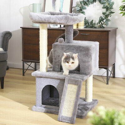 AU85.99 • Buy Cat Tree Scratching Sisal Post Scratcher Tower With Double Condo House Furniture