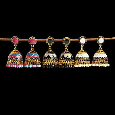 AU4.46 • Buy Ethnic Jhumka Jhumki Tassel Dangle Gold Earrings Vintage Gypsy Bollywood Jewelry