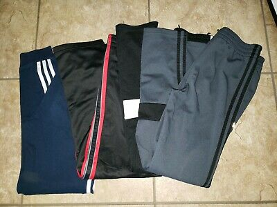 $37.50 • Buy 4 Pair Lot Adidas Tek Gear Jogger Pant Drawstring Boys 14-16 Running Gym Workout