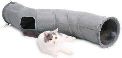 AU29.99 • Buy S Shape Pet Cat Tunnel Kitty Play Toy Tube Crinkle With Ball Durable Collapsible