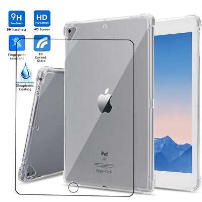 AU34.99 • Buy Transparent Slim Silicone Case For IPad 7 6 Mini Air Pro 12.9+Glass Screen Fillm