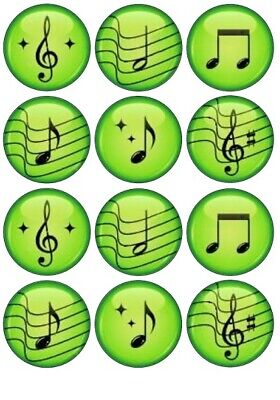 £1.99 • Buy 24 Musical Notes Cup Fairy Cake Toppers Edible Party Decorations