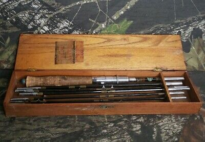 $54.99 • Buy Vtg Crown Japan Travel Fly & Casting Rod Combo Fishing Pole W/ Case