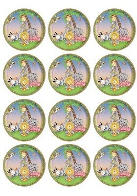 £1.99 • Buy 24 Jungle Theme Fairy Cup Cake Toppers Edible Party Decorations
