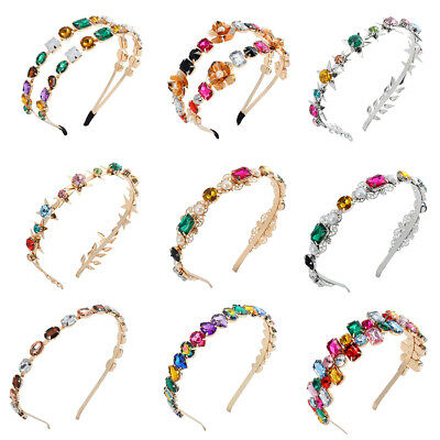 $1.79 • Buy Women Baroque Crystal Headband Hairband Jewelled Hair Band Wedding Crown Prom