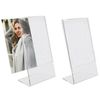 $3.75 • Buy Acrylic Photo Frame Freestanding Picture Frame 21X15cm Table Display Card Stand