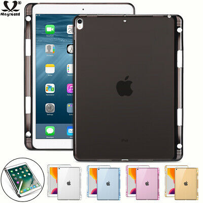 AU7.59 • Buy Silicone Soft With Pencil Holder Back Case Cover For Ipad 10.2 Mini 5 Air 2 12.9