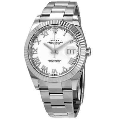 $ CDN14292.17 • Buy Rolex Datejust 41 White Dial Automatic Men's Oyster Watch 126334WRO
