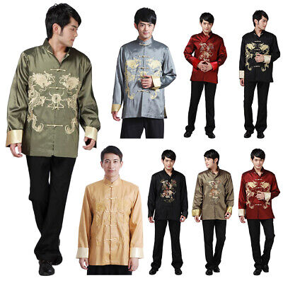 $27.31 • Buy Chinese Traditional Clothing Men Kung Fu Jacket Martial Arts Coat Tang Suit New