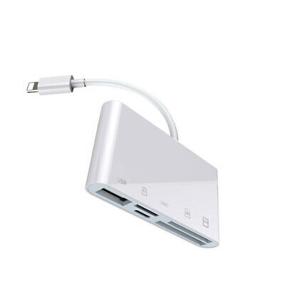 AU20.55 • Buy IOS 13 SD TF XQD USB 3.0 Card Reader Mouse U Flash Disk Drive Adapter For IPhone