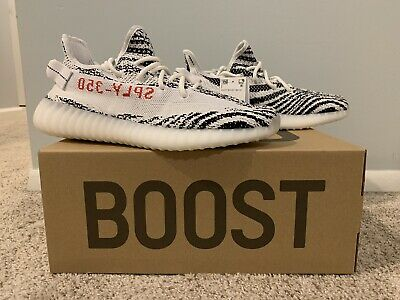 $ CDN616.34 • Buy Adidas Yeezy Boost 350 V2 Zebra Size 9.5 100% Authentic Deadstock