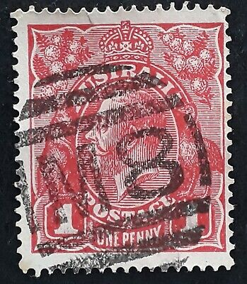 AU20 • Buy Undated Australia 1d Red KGV Stamp Used Numeral Cancel M8 - Morwell Victoria